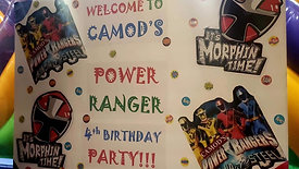 Power rangers themed birthday party