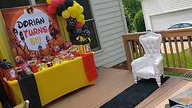 Incredibles themed 5th birthday party