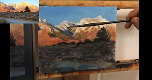 Casein Painting Mount Whitney Tutorial