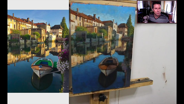 'Boat on the canal' Tutorial part 2