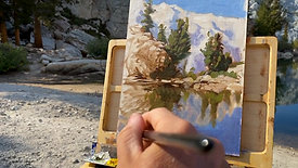 Semi Nude plein air painting