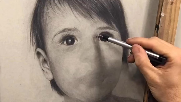 TIMELAPSE CHARCOAL OF TEDDY