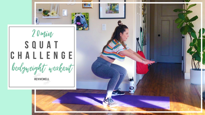 20 Min Bodyweight Squat Challenge with Progressive Overload