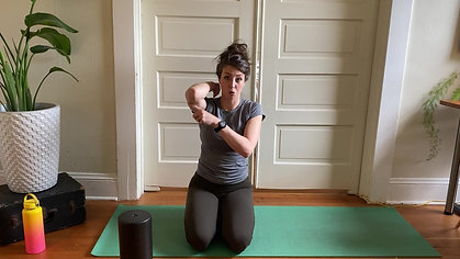 Upper back and neck tension release (foam rolling)