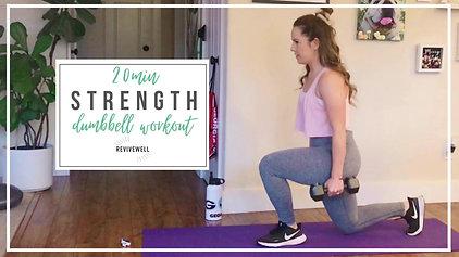 20 Min Strength Dumbbell Workout (FulL Body!)