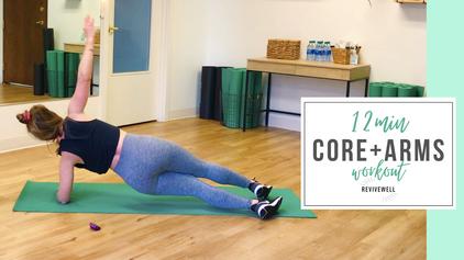 12 Min Core + Upper Body Workout