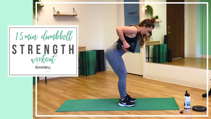15 Min Full Body Strength Workout with Dumbbells