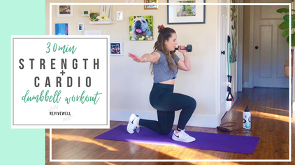 30 Min Cardio + Strength Circuits with Dumbbell