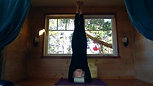 Jane Munro headstand