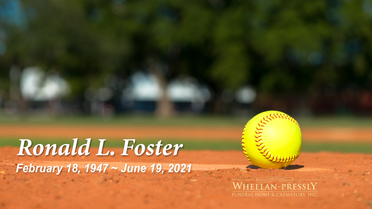 Celebration of Life Service for Ronald Foster