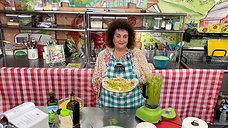 Chef Dianne Linderman Making Basil Pesto Pasta with Chicken
