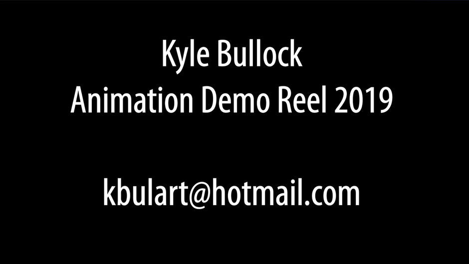 Animation Demo Reel 2019