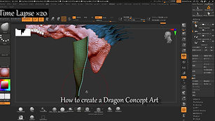 【ドラゴンのモデリング】How to Modeling a dragon withn Z-brush