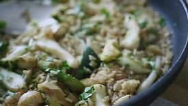 Wok de sepia con verduras