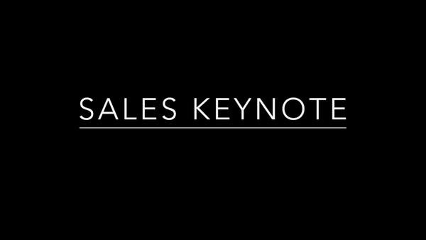 Sales Keynote
