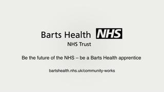 Barts NHS - Syed Ahmed Apprenticeships Ambassador