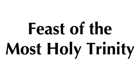 The Most Holy Trinity