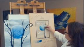 Blue Moon - FREE Art Class