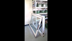 ELA35下掀式开启 5+5胶合玻璃 窗框尺寸160x100cm
