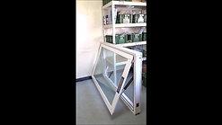 ELA35下掀式关闭 5+5胶合玻璃 窗框尺寸160x100cm