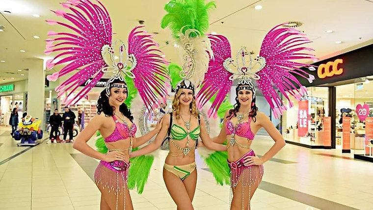 Karnevalová show a Las Vegas show girls