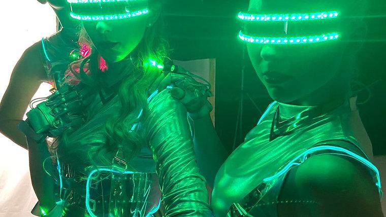 Taneční světelná show - LED light show