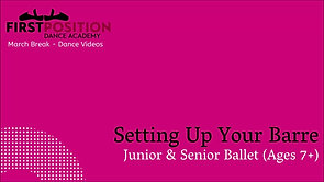 Setting up your Barre and Dance Space
