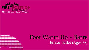 Foot Warm Up - Barre