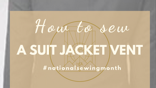 How to Sew a Suit Jacket Vent