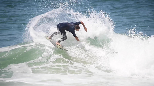 Chris' first surf on his Ilúvatar