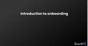 Introduction to Onboarding