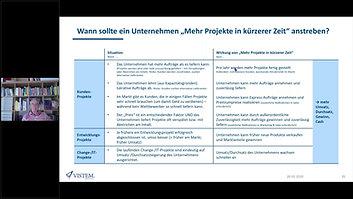 """Wann und wofür """"Mehr Projekte in kürzerer Zeit""""?"""