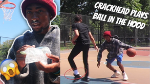 CRACKHEAD PLAYS BASKETBALL IN THE HOOD VS TRASH TALKERS! | A DAY IN THE LIFE OF LJ