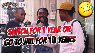 Would you SNITCH for 1 YEAR in JAIL or take 10 YEARS for your Friend/Partner?