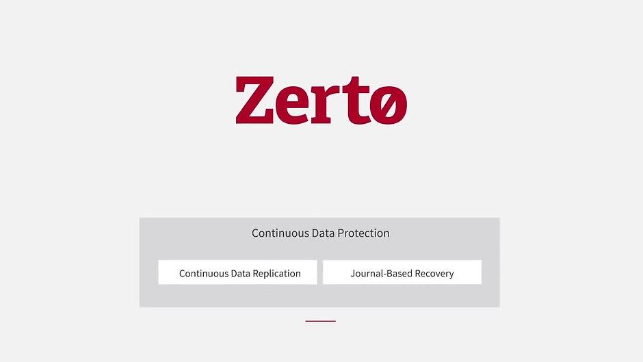 Zerto Backup and Replication