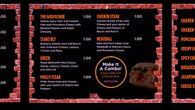 Stak's Subs Digital Menus