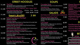Thai Food Digital Menus