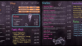 Chalkboard Digital Menu