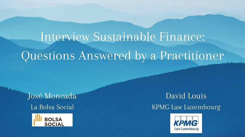 Interview Bolsa Social - KPMG Law Luxembourg
