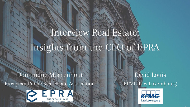 Interview Real Estate with Dominique Moerenhout