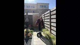 rustige oefeningen in tuin