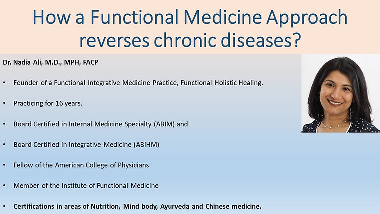 Functional Medicine Approach to Health