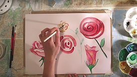 Learn How to Paint Roses