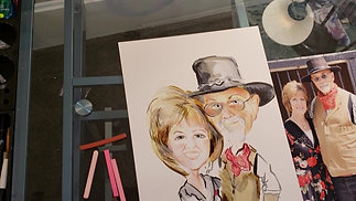 National Cowboy Day Caricature