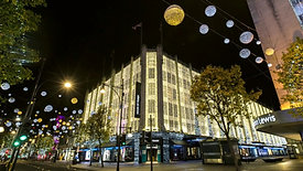 Christmas lights at the House of Fraser, Oxford Street, London