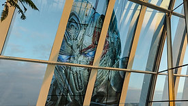 Transformers graphic installation at Sky Gardens, London