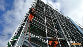 Sky HQ banner installation