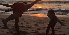 Yoga on Dreamland beach in Bali
