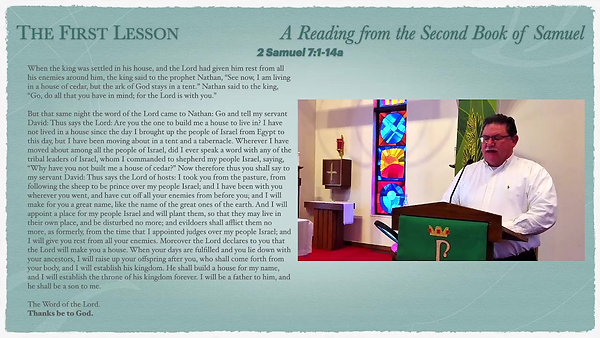 Livestream Holy Eucharist Service for the 8th Sunday after Pentecost