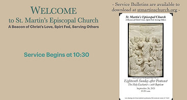 Holy Eucharist Service & Baptism for the 18th Sunday after Pentecost